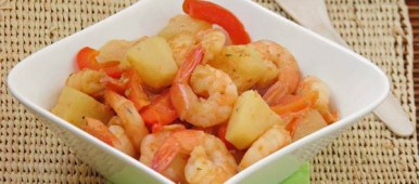 Curry de crevettes ananas pour Pekin Express