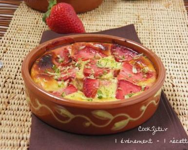Gratin de fraises et citron vert