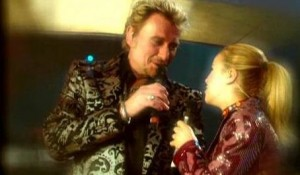 Johnny Hallyday et Sonia Lacen