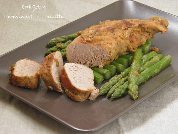 Filet Mignon de porc aux asperges