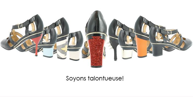 Chaussures à talons interchangeables